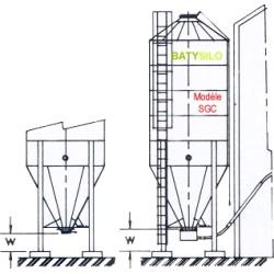 boisseaux cône à 62° capacité 13,78 tonnes