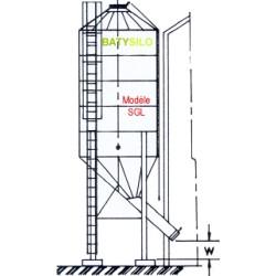 boisseaux cône à 43º- 80º capacité 13,36 tonnes