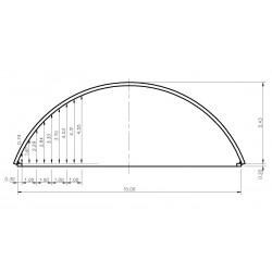 bâtiment semi circulaire - porté 15m hauteur de voûte 5,43m