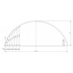 bâtiment semi circulaire - porté 18m hauteur de voûte 7,15m