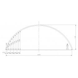 bâtiment semi circulaire - porté 20m hauteur de voûte 7,50m