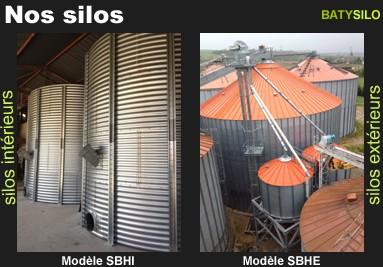 Silos intérieurs SBHI et silos extérieurs SBHE